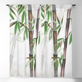Bamboo Forest on patterned cloth Blackout Curtain