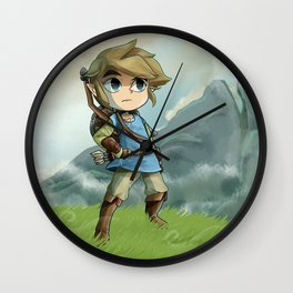 """Toon Link in """"Breath of the Wild"""" Wall Clock"""