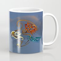 hawk Mugs featuring Hawk by Knot Your World
