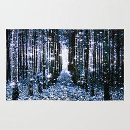 Magical Forest Dark Blue Elegance Rug