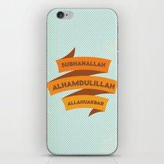 Subhanallah Alhamdulillah Allahuakbar iPhone Skin