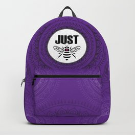 Just Be - purple Backpack
