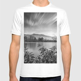 """Windy Clouds At The Lagoon"" BW T-shirt"