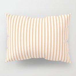 Bright Orange Russet Mattress Ticking Narrow Striped Pattern - Fall Fashion 2018 Pillow Sham