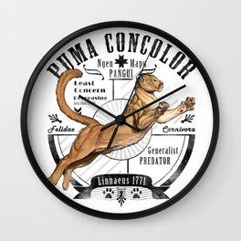 Old School Puma Facts Wall Clock