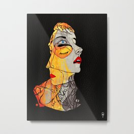 The Two Faced Kind Metal Print