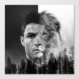 Cristiano Ronaldo Beast Mode Canvas Print