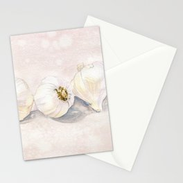 Garlic Watercolor Stationery Cards