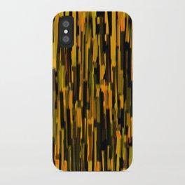 vertical brush orange version iPhone Case
