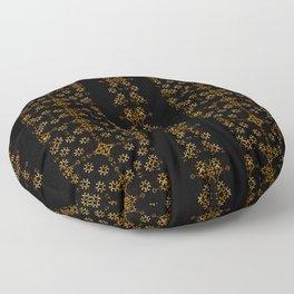 Dark Arabic Stripes Pattern Floor Pillow