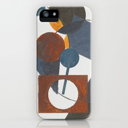 Constructivistic painting iPhone Case