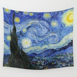 1889-Vincent van Gogh-The Starry Night-73x92 Wall Tapestry