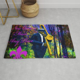 NEW ORLEANS JAZZ TROMBONE LET THE GOOD TIMES ROLL!! Rug