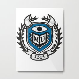 MU Monster University Metal Print