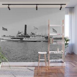Ticonderoga Steamer on Lake Champlain Wall Mural