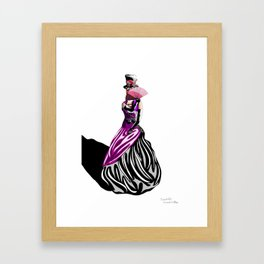 Mysterious Lady Framed Art Print