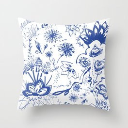 All Azul  Throw Pillow