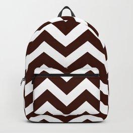 Black bean - brown color - Zigzag Chevron Pattern Backpack