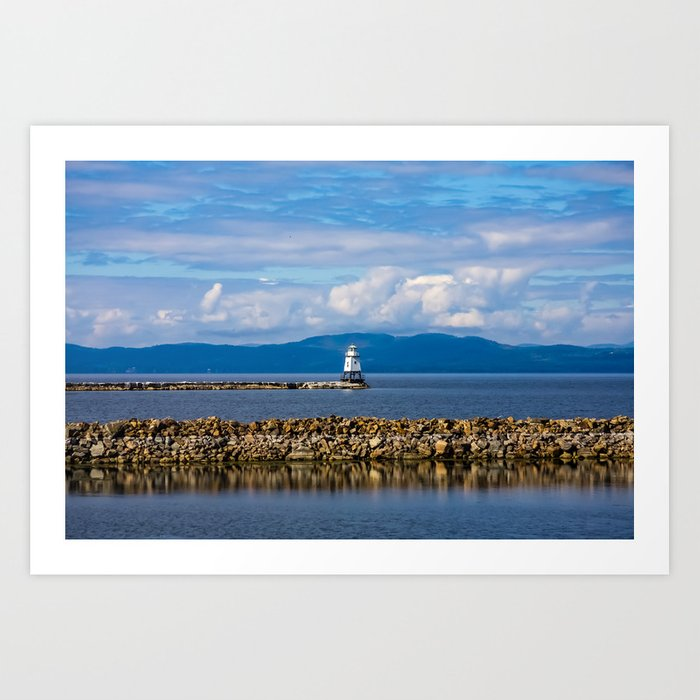 Lake Champlain. Burlington. Vermont. USA. Kunstdrucke
