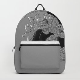Flower couple Backpack