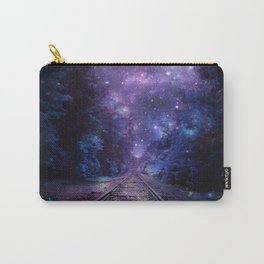 TRAIN tracks Purple Blue Carry-All Pouch