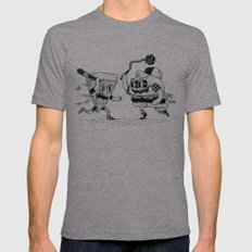 The ultimate fast food fight! Tri-Grey Mens Fitted Tee X-LARGE