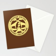 Giraffes United Against Ceiling Fans Stationery Cards