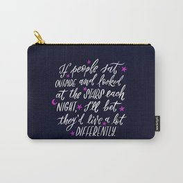Look at the Stars - Deep Blue Carry-All Pouch