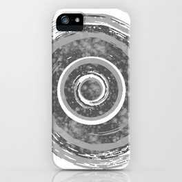 Silver Watercolor Spiral iPhone Case