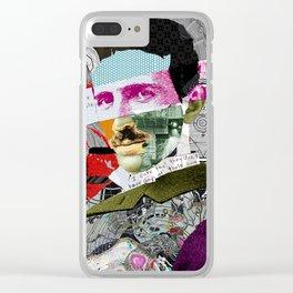 Nikola Portrait Collage Art Clear iPhone Case