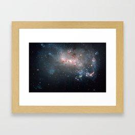 Starburst - Captured by Hubble Telescope Framed Art Print