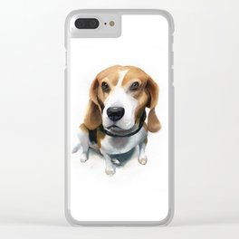 watercolor Beagle Clear iPhone Case