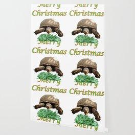 Sulcata Tortoise - Merry Christmas Wallpaper