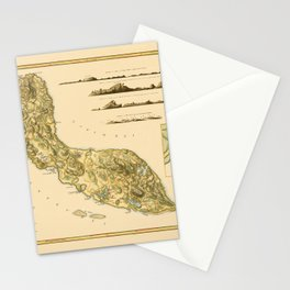 Map Of Curacao 1794 Stationery Cards
