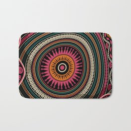 Abstract tribal background Bath Mat