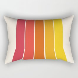 Rad - retro throwback 70s 1970s stripe beach 70's vibes minimal art Rectangular Pillow