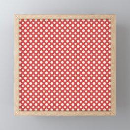 White spots on Fiesta Red Framed Mini Art Print