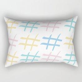 Hashtag pastel palette Rectangular Pillow