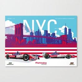 Mahindra Racing FIA Formula E Season 4 New York City E-Prix Poster Canvas Print