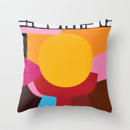 Sun support Throw Pillow