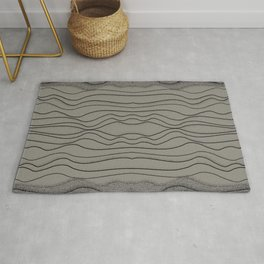 Crashing Waves - Diffuse Ocean Dark Beige Rug
