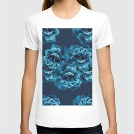 Blue Peony Flower Bouquet #1 #floral #decor #art #society6 T-shirt