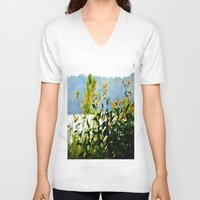 clear V-neck T-shirts featuring Naturally Clear by Stephenie