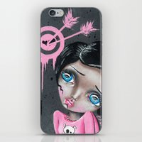 chicago bulls iPhone & iPod Skins featuring Bulls Eye by Lizzy Love