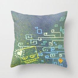 Blockhead Love Throw Pillow