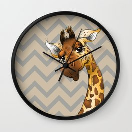 Chevron Giraffe! Wall Clock