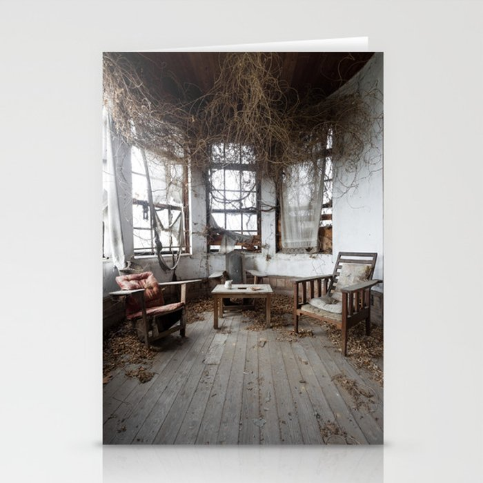 Nature takeover. Abandoned manor. Stationery Cards