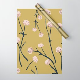 Dandelions on Ochre Wrapping Paper