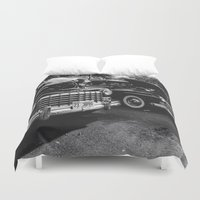 old school Duvet Covers featuring Old School by Xneon