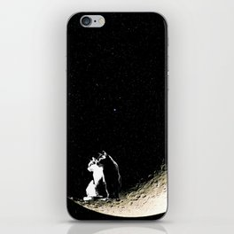 Moon and cats iPhone Skin
